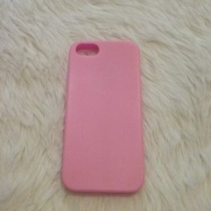 Pink Silicone iPhone 5s Case